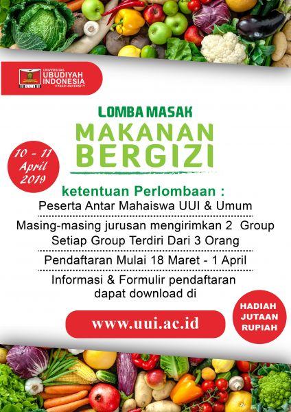 Lomba Masak Universitas Ubudiyah Indonesia Prodi Gizi