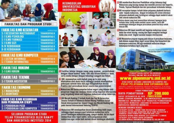Pendaftaran Mahasiswa Baru UUI Tahun Akademik 2018-2019