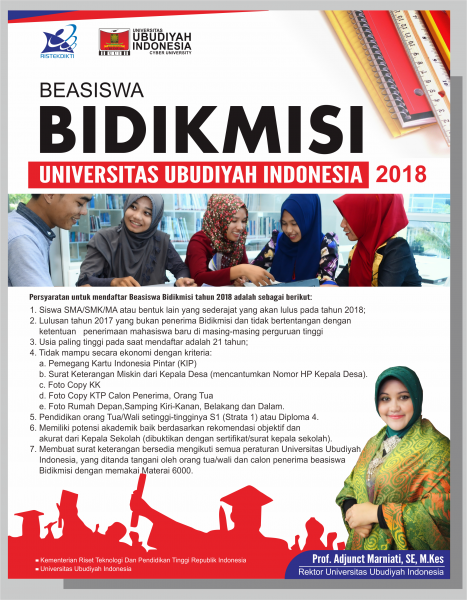 Penerimaan Beasiswa Bidikmisi UUI Tahun 2018