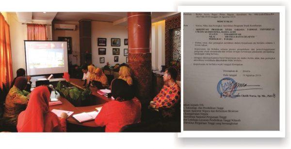 Prodi Farmasi UUI Raih Akreditasi B