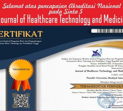 UUI Raih Akreditasi Nasional Journal Of Healthcare technology and Medicine