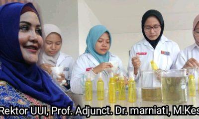 mahasiswa farmasi uui membuat antiseptik herbal untuk antisipasi covid-19